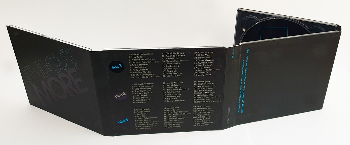8 panel digipack rear view CD case
