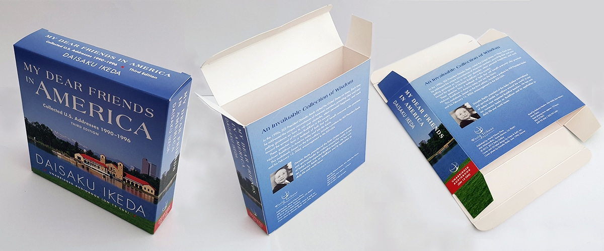 Folding Card Box end opening